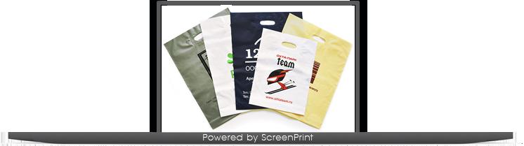 Печать пакетов майка с логотипом